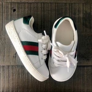 Gucci Leather Low-Top Toddler Sneakers